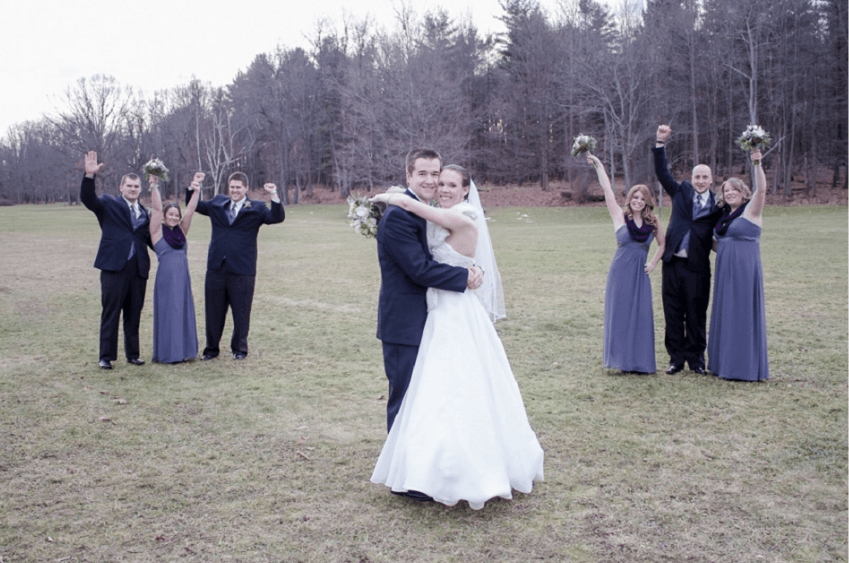 rochester country club winter wedding